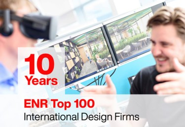 10th year as an ENR top 100 international design firm